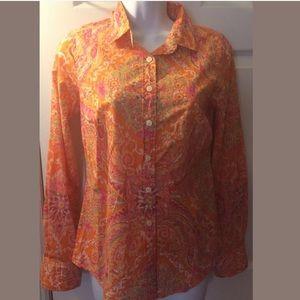 J.CREW The Perfect shirt printed cotton Paisley